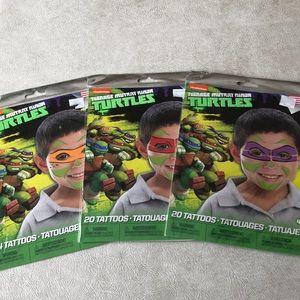 Bundle of 72 Teenage Mutant Ninja Turtles tattoos